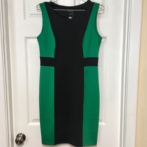 Green and black color black sheath dress size 10